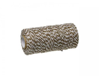 100 m spool Twine Baker's Twine Style Brown and white