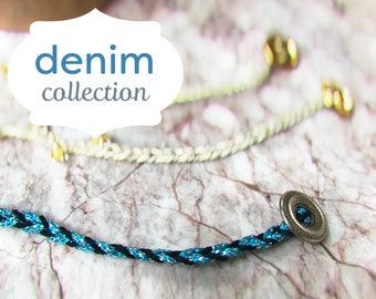 Friendship bracelet- rich blue