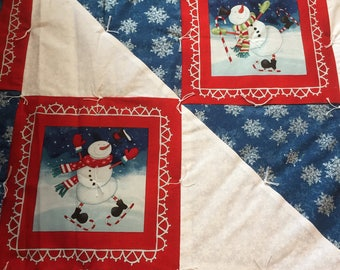 Holiday Snowman Quilt