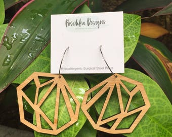 Large Geometric Cut Out earrings