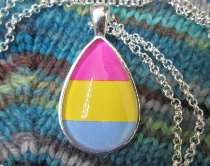 Pansexual Pride - Pan Pride Flag Pendant Necklace