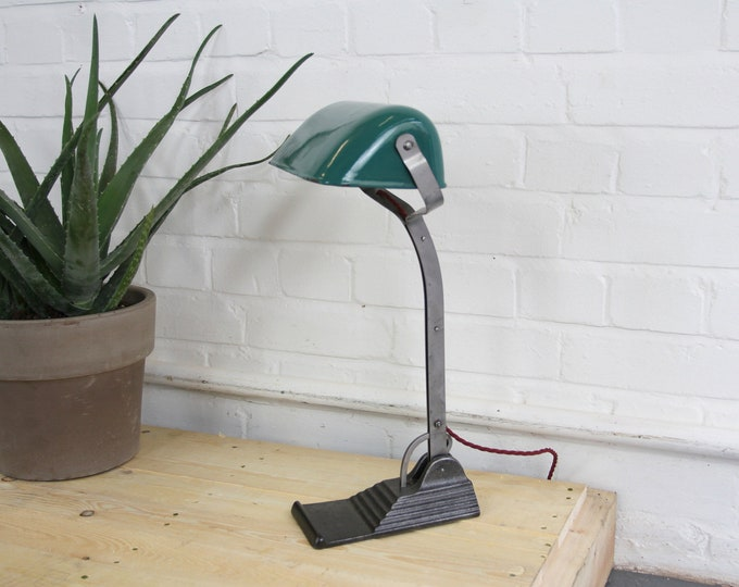 Art Deco Bankers Desk Lamp By Schaco Circa 1920s