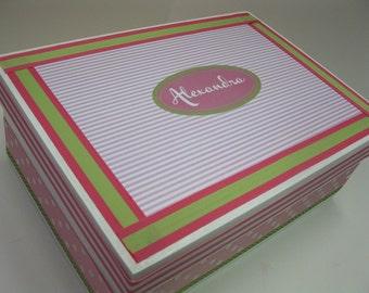 Girl's Keepsake Box  Personalized PB Kids Penelope inspired