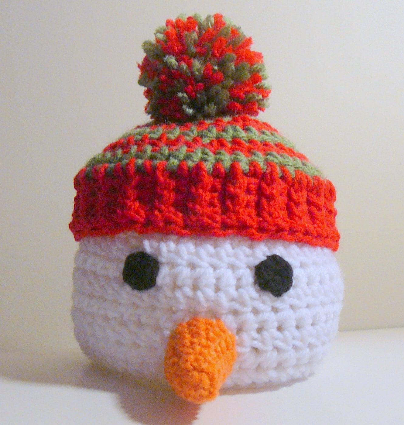 Snowman Hat PDF Crochet Pattern - Newborn to Adult - INSTANT ...