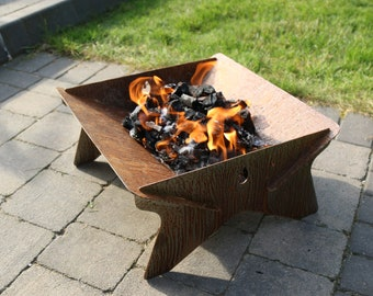 Lava Box Portable Fire Pit - Flat Pack - Limited Edition - Rustic