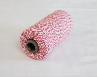 Light Pink and White Bakers Twine - 10 yards