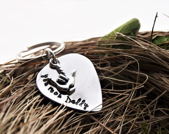 You Rock Daddy Personalized Guitar Pick Keychain | Father's Day Gift For Day | Custom Keychain | Daughter Gift To Dad | Guitar Pick Keychain
