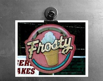 Frosty Ice Cream Neon Sign Captured in Idaho USA, Kitchen Art for Ice Cream Freaks ... I Scream, You Scream, We All Scream for Ice Cream!