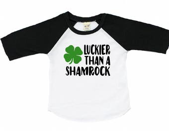 Shamrock shirt - toddler shamrock shirt - st patricks day shirt - baby - girl - boy - baseball tee - raglan - st pattys day - outfit