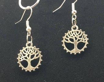 Steampunk Tree of Life earrings