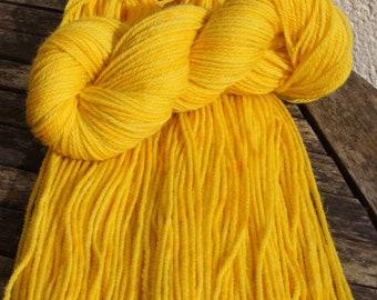 Dappled Daffodils - Hand Dyed British Wool- Aran weight yarn