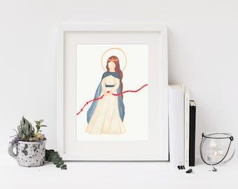8x10 Print: Mary, Undoer of Knots/ Mary, Untier of Knots