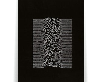 Radio Waves from Pulsar CP 1919 used by Joy Division poster.