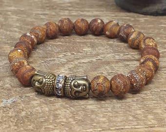 Mala Beads, Mala Bead Bracelet, Meditation Beads, Buddha Bracelet, Mala Bracelet, Tibetan Agate Bracelet