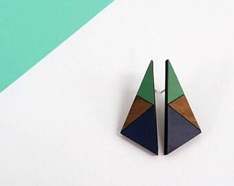 Triangle Earrings - Geometric Jewellery - Geometric Earrings - Gift for women - stocking filler - unusual jewellery - statement earrings
