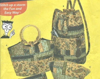 Simplicity 5076 - Quilted Bags - PATTERN