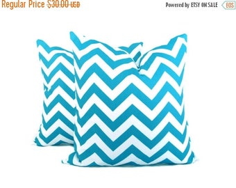 15% Off Sale Blue Chevron Pillow.ZigZag Pillow.Blue and White.16x16inch Pillow. Accent Pillow. Home Decor.Printed fabric on front and back