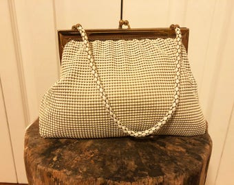 1950s vintage Whiting and Davis mesh evening purse