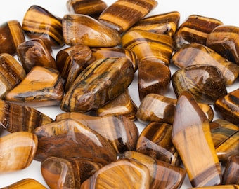 Tigers Eye Tumbled Stone | Tigers Eye Stone | Tumbled Stones | Healing Crystals and Stones