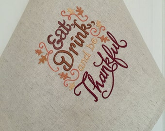 Linen Dish Towel Embroidery Tea Towel Hand Towel Gift Dishcloth Kitchen Decor