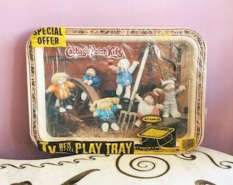 Vintage 80s Cabbage Patch Kids Metal Snack TV Tray Sealed Unused