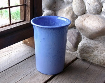 Fulper Pottery Vase, Crystalline Blue Glaze, Circa 1920s, Arts and Crafts, Mission, Craftsman Style, FREE SHIPPING