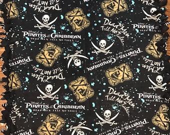 Pirates of the Caribbean Fleece-Tied Blanket