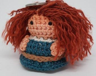 Crochet figure and key fobs Merida - brave