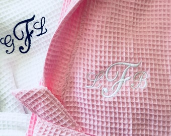 Bathrobes, Cotton Waffle Robes, Spa Robes, Bridal Party Robes, Personalized gifts, Bridesmaid Robe, towel wrap
