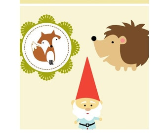 Woodland Creatures Designs-Cute Owls,Gnomes,Deer,Hedgehogs and Foxes- Clip Art PNG-Perfect For Invitations,Cards,Notices and Srapbooking