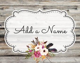 Custom name add on