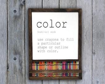 Color Definition Sign | Definition Wall Art | Kids Definition Sign | Kids Playroom Sign | Definition Wall Decor | Playroom Decor | Color