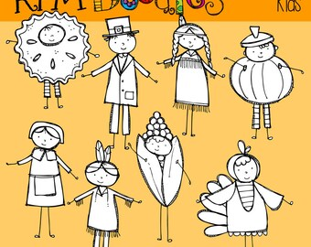 KPM Thanksgiving kids Stamps
