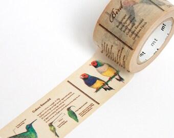 Oiseau Washi Tape • MT Masking Tape MT ex oiseaux large ruban adhésif • papeterie japonais Washi Tape UK • oiseau