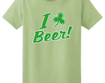 I Shamrock Beer Ladies T-Shirt 2000L-WHS-174