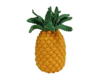 Crochet Pineapple(1 pcs)-Play Pretend Food Crochet Fruit Kitchen Decor Montessori Toys Kitchen Play Food