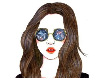 GALAXY GLASSES - Downloadable Digital Art