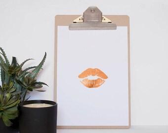 Foil Print for makeup artist - Unframed lipstick foil print - Makeup Studio Foil Print - Prints for Bathroom - Prints for Makeup Lovers