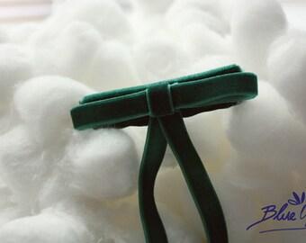 Cute Green Velvet Hairclip
