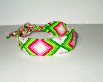Friendship Bracelet - Diamond - summer - watermelon