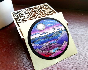 Stickers - Empowering Mountain / Feminism / Moon