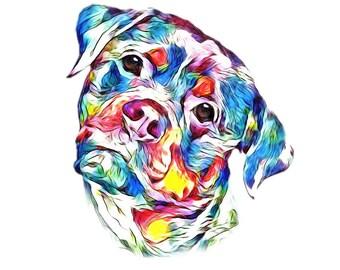 Pet portrait, Pet loss, Pet gift, Dog portrait. Painting from photo. Pet loss gift. Pet memorial, Pet loss gift