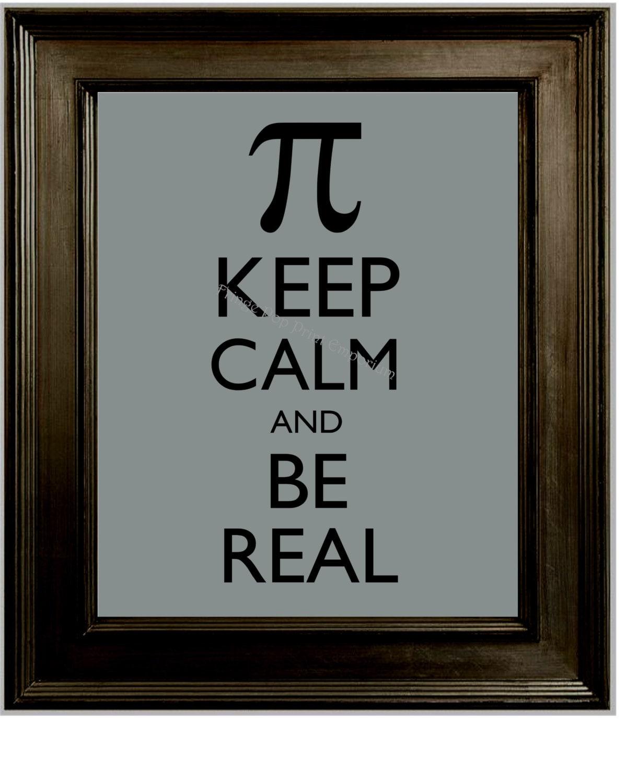 Keep Calm Pi Art Print 8 X 10 Be Real Math Mooi Printing Premium Sweater Top Unicorn Size M Zoom