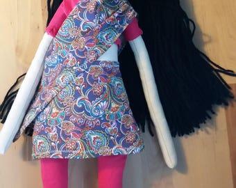 Rag Doll, cloth doll, heirloom doll, handmade doll, Indian doll