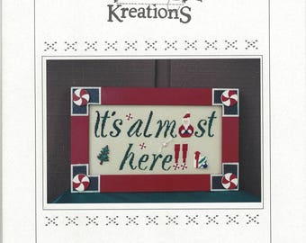"""Clearance - """"It's Almost Here"""" Counted Cross Stitch Chart by Poppy Kreations"""