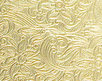 """Textured Brass Sheet 6"""" X 2.5"""" (Br85) Large Bracelet Size Texture Metal Use With Your Rolling Mill - 24 Gauge - Jewelry Metal Emboss Metal"""