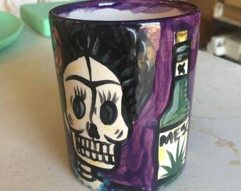 Day of the Dead Frida Mug - Purple