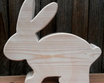 Wooden 25 cm Easter Bunny Easter Happy Easter decor