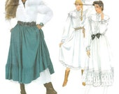 Ralph Lauren Designer Pattern Sewing Pattern 70s Sewing Patterns Fall Fashion Full Skirt Gift for Her Dress Pattern Size 8 Vogue 2881