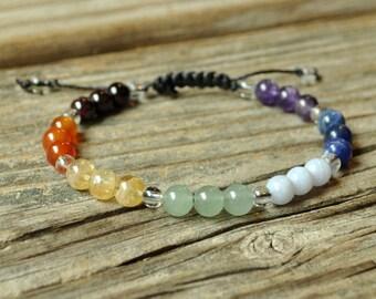 Chakra Bracelet, Yoga Bracelet, Meditation Bracelet, Chakra Healing, Yoga Healing, Meditation Healing, Crystal Healing, Beaded Bracelet